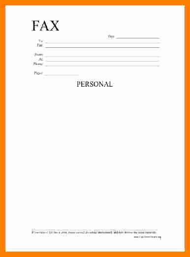 Professional Fax Cover Sheet Unique 10 Printable Professional Fax Cover Sheet