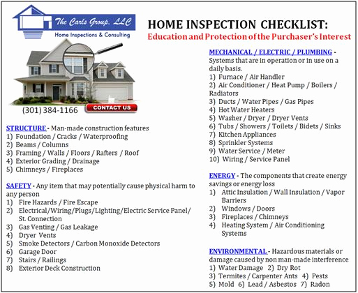 Professional Home Inspection Checklist Awesome Home Inspection Checklist