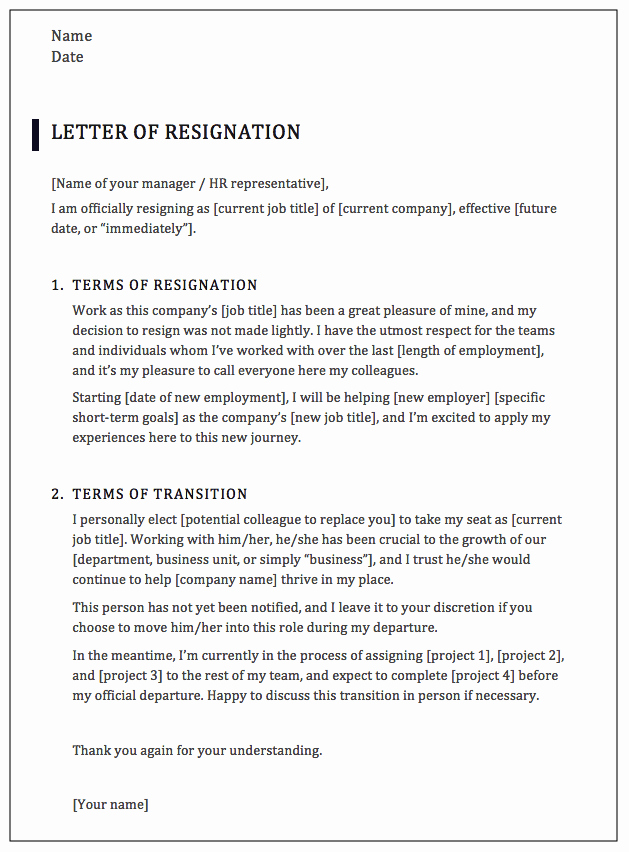 Professional Letter Of Resignation Beautiful How to Write A Professional Resignation Letter [samples