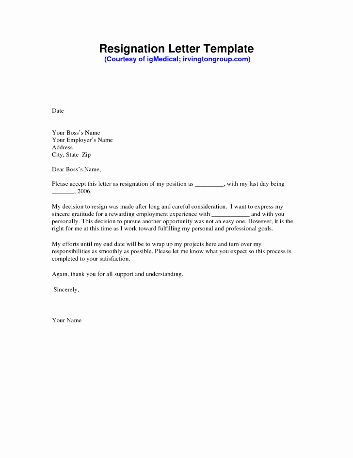 Professional Letter Of Resignation Fresh Awesome Free Sample Resignation Letter Free Word