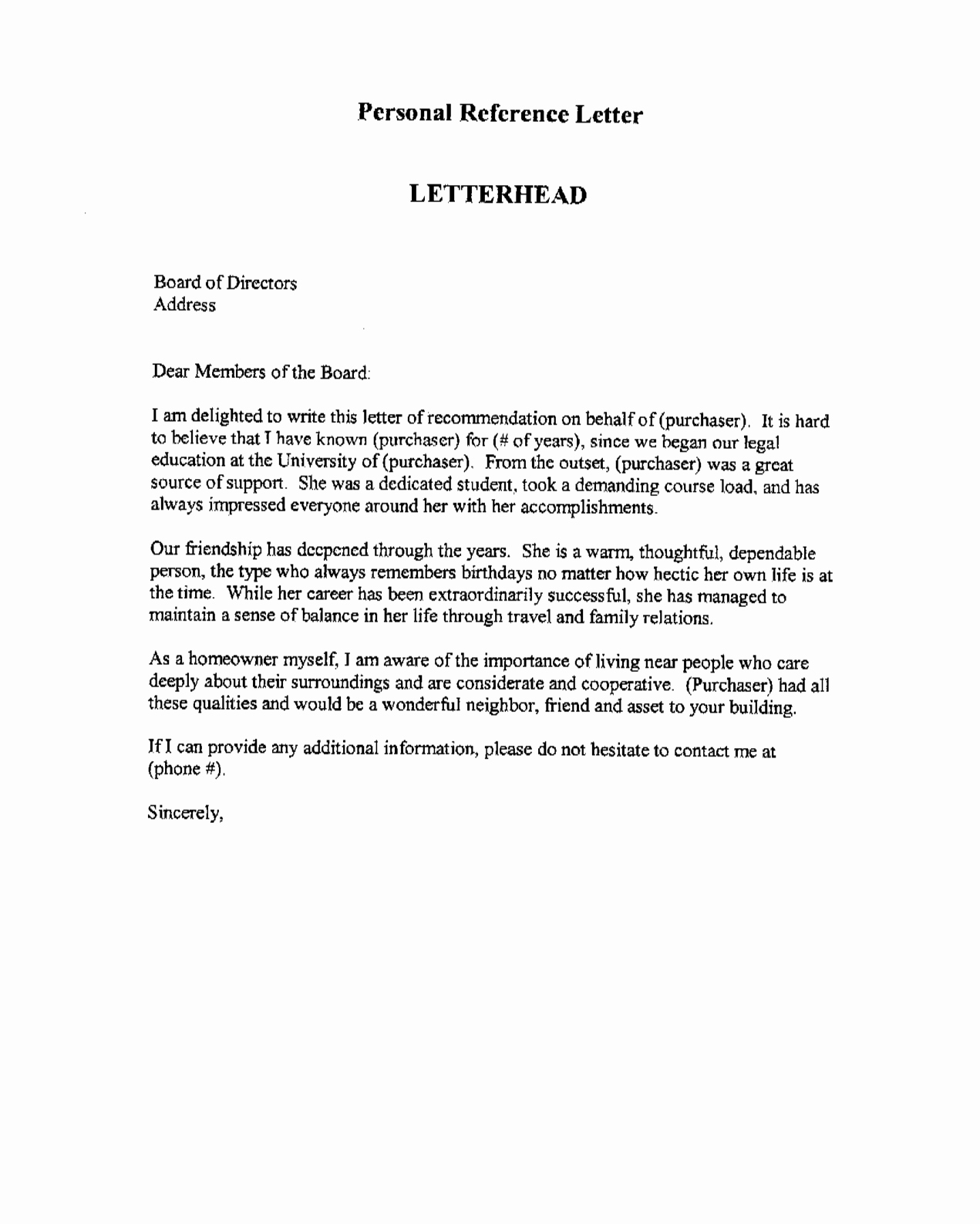 Professional Reference Letter Template Awesome Professional Re Mendation Letter This is An Example Of