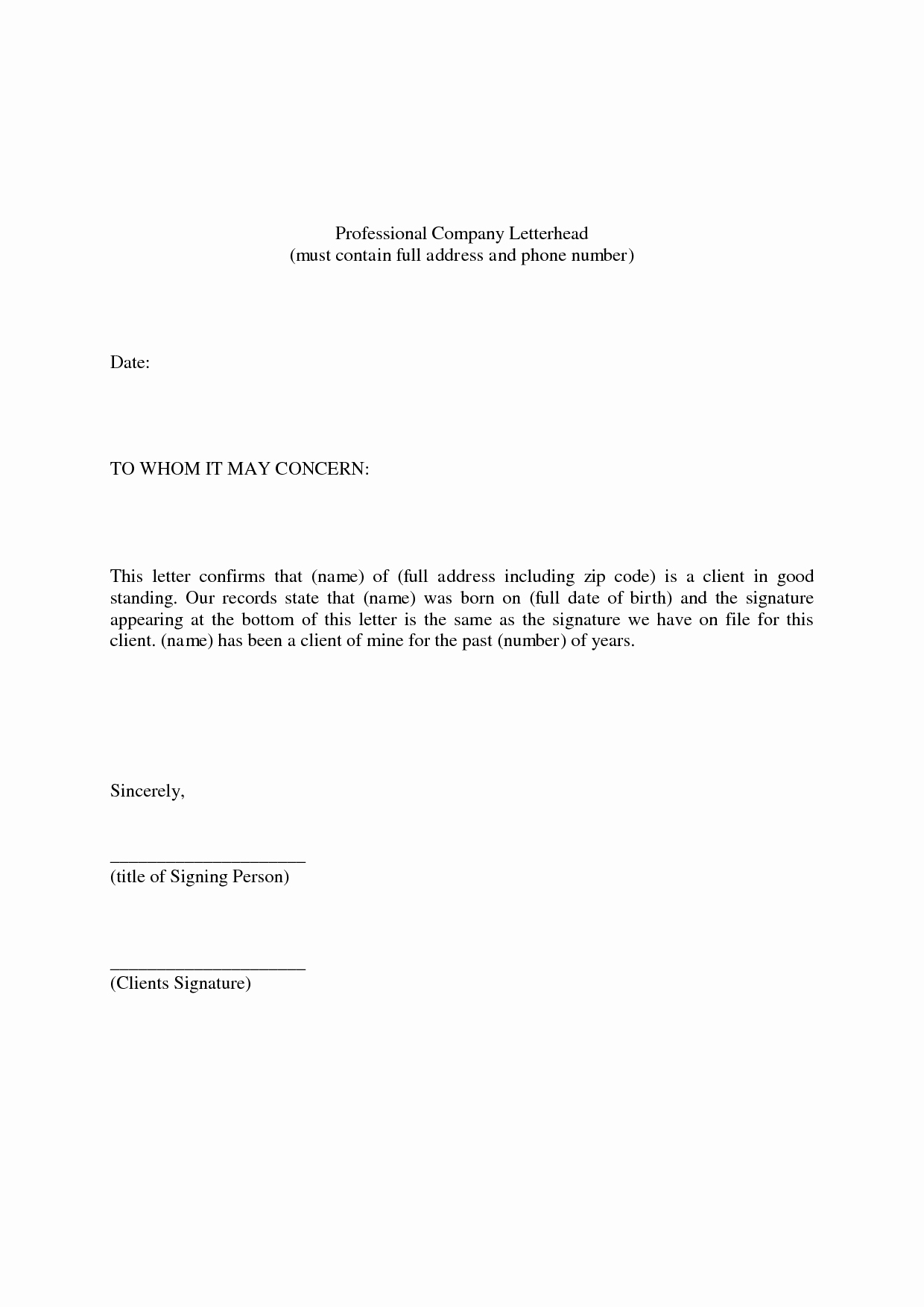 Professional Reference Letter Template Fresh Professional Reference Letter Example