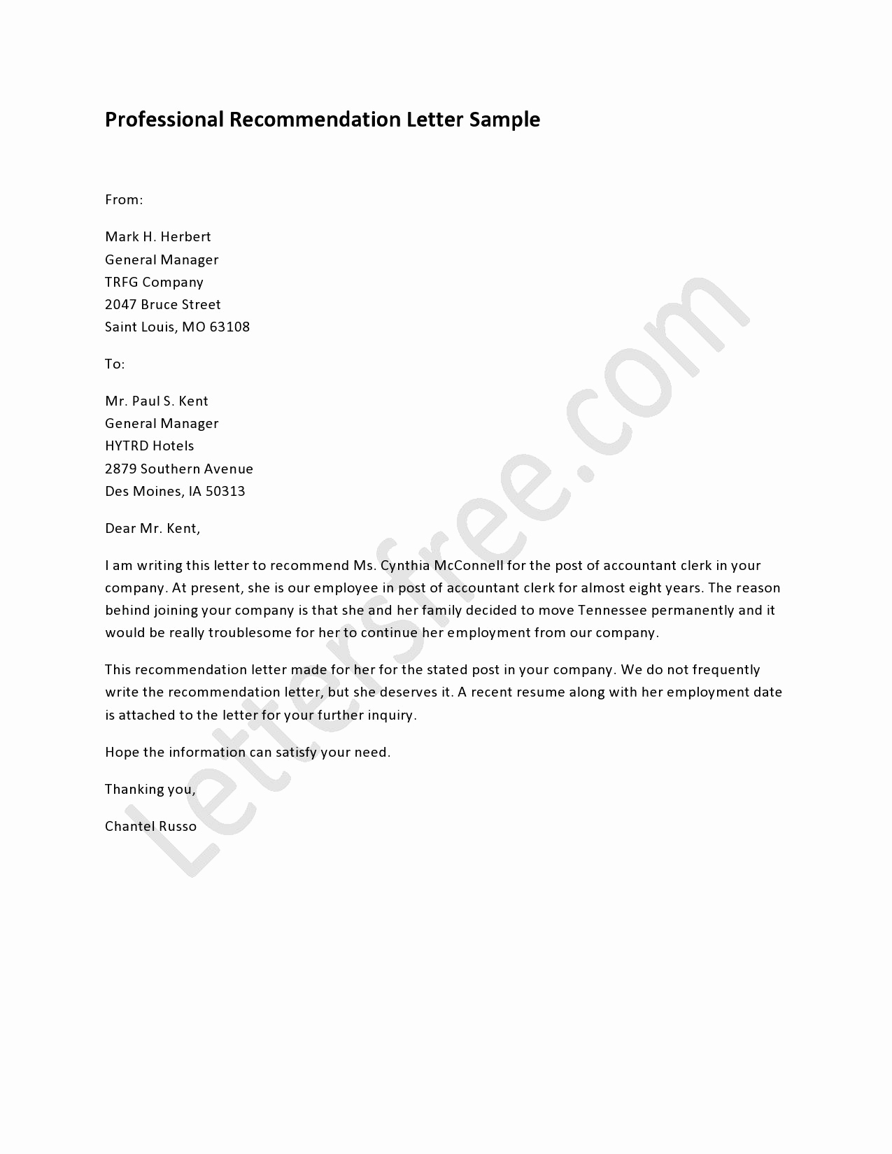 Professional Reference Letter Template New Professional Letter Re Mendation Sample for Coworker