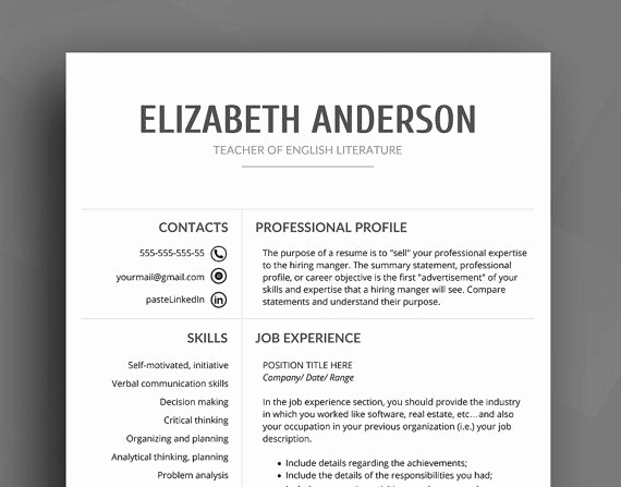 Professional Reference List Template Word Fresh Professional Resume Template Cv Template Cover Letter