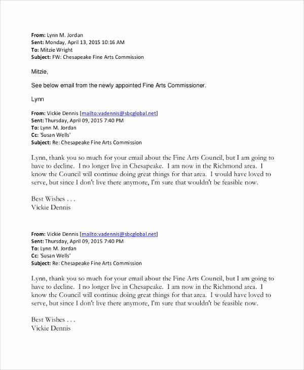 Professional Resignation Letter Sample Elegant Sample Email Resignation Letter 6 Documents In Pdf Word