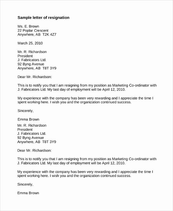 Professional Resignation Letter Sample New Sample Resignation Letter 8 Examples In Pdf Word