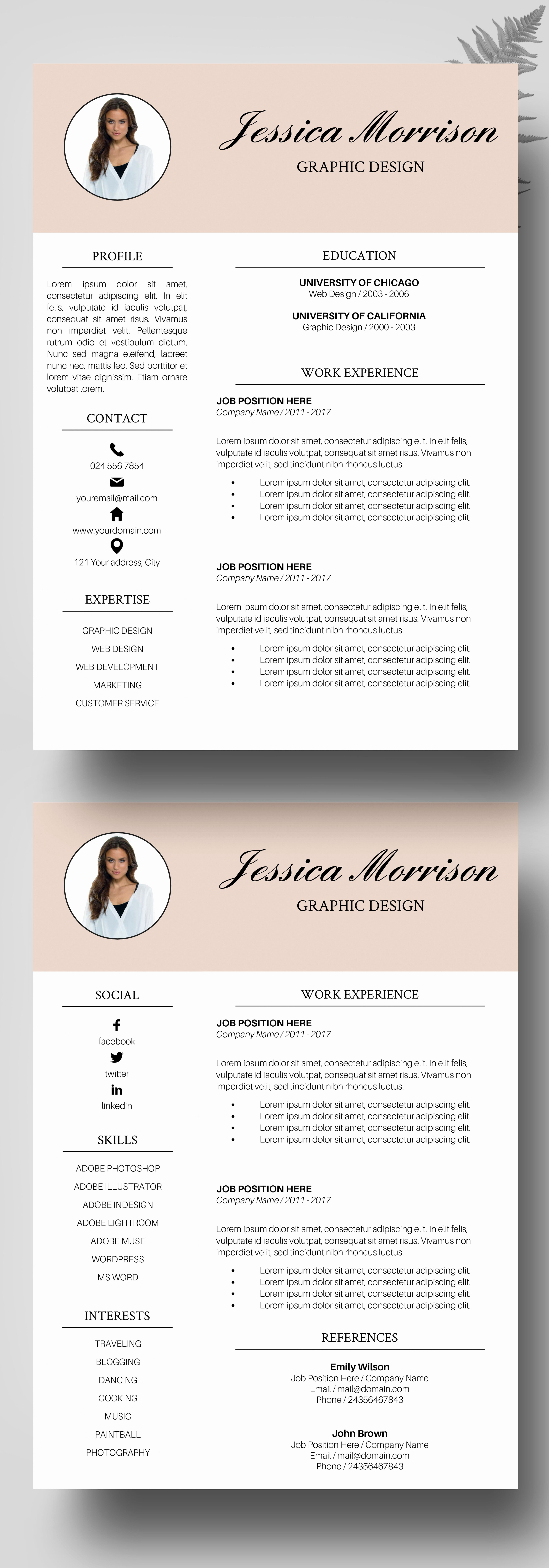 Professional Resume Template Free Fresh Resume Template Resume Instant Download Cv