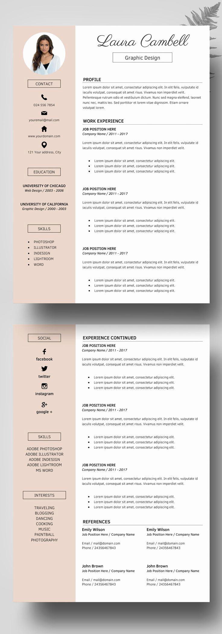 Professional Resume Template Free New Best 25 Professional Resume Template Ideas On Pinterest