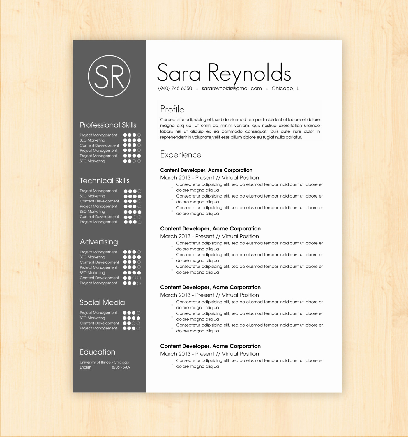 Professional Resume Template Word Beautiful Resume Template Cv Template the Sara Reynolds by Phdpress