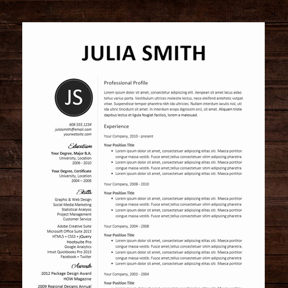 Professional Resume Template Word Best Of Professional Resume Template Resumes Microsoft Word 2016