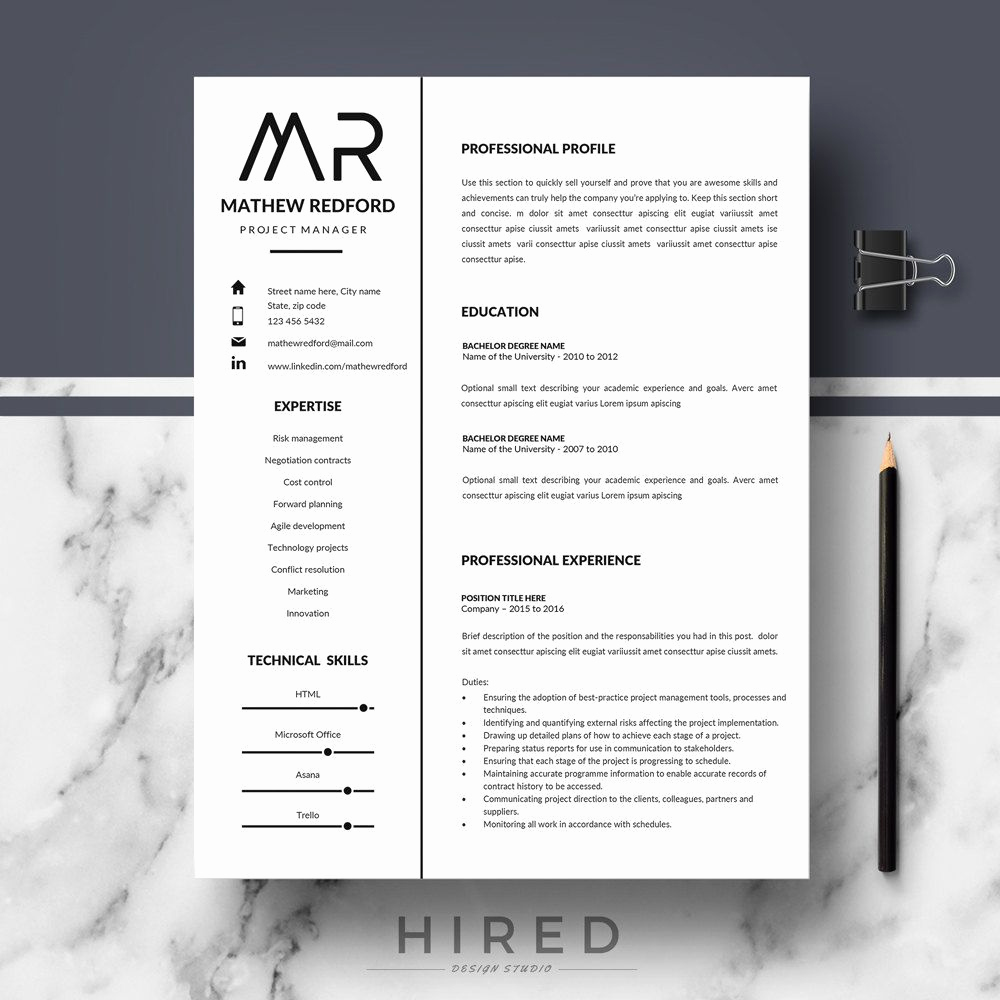 Professional Resume Template Word Best Of Professional Resume Templates Minimalist Resume Cv