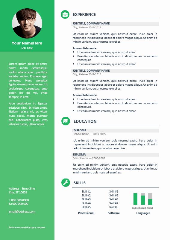 Professional Resume Template Word Elegant orienta Free Professional Resume Cv Template