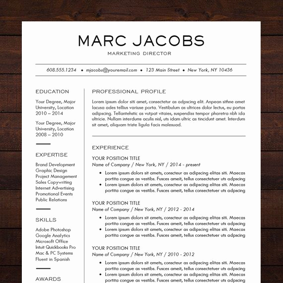 Professional Resume Template Word Inspirational 21 Best Images About Resume Design Templates Ideas ☮ On