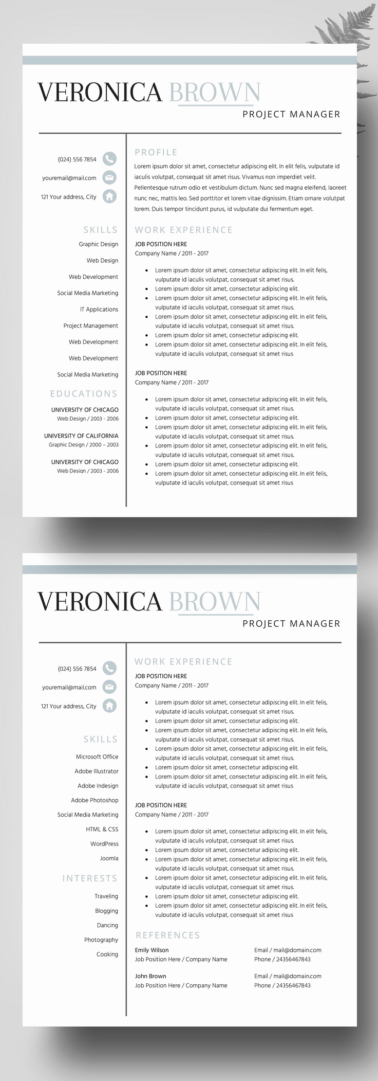 Professional Resume Template Word New Best 25 Professional Resume Design Ideas On Pinterest