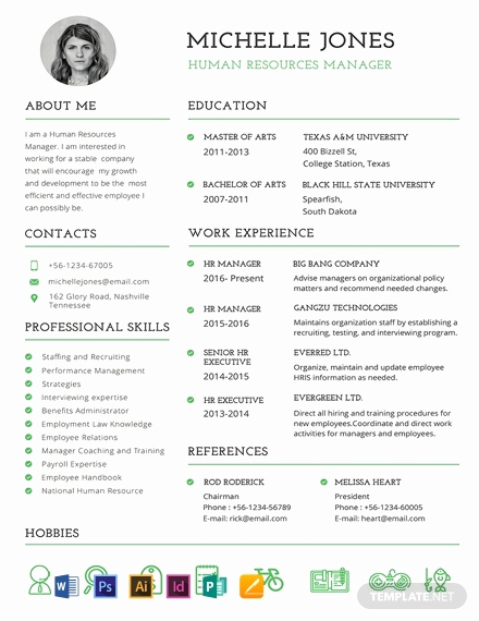 Professional Resume Template Word Unique Free Professional Hr Resume and Cv Template Download 1354
