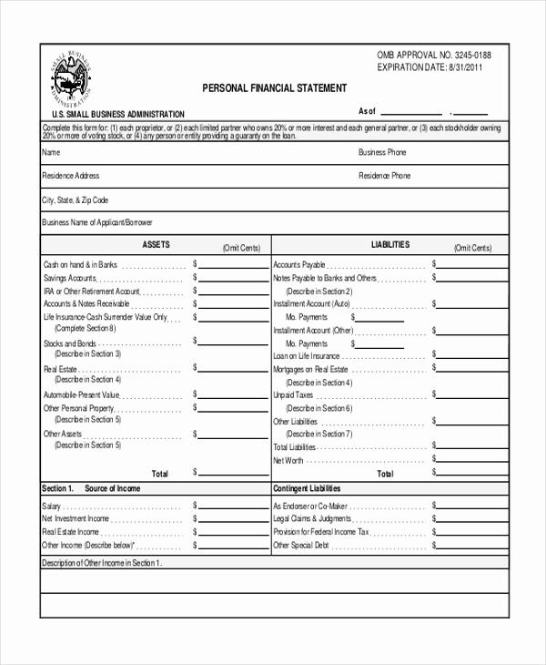 Profit and Loss Statement form Beautiful Sample Profit and Loss form 9 Free Documents In Pdf