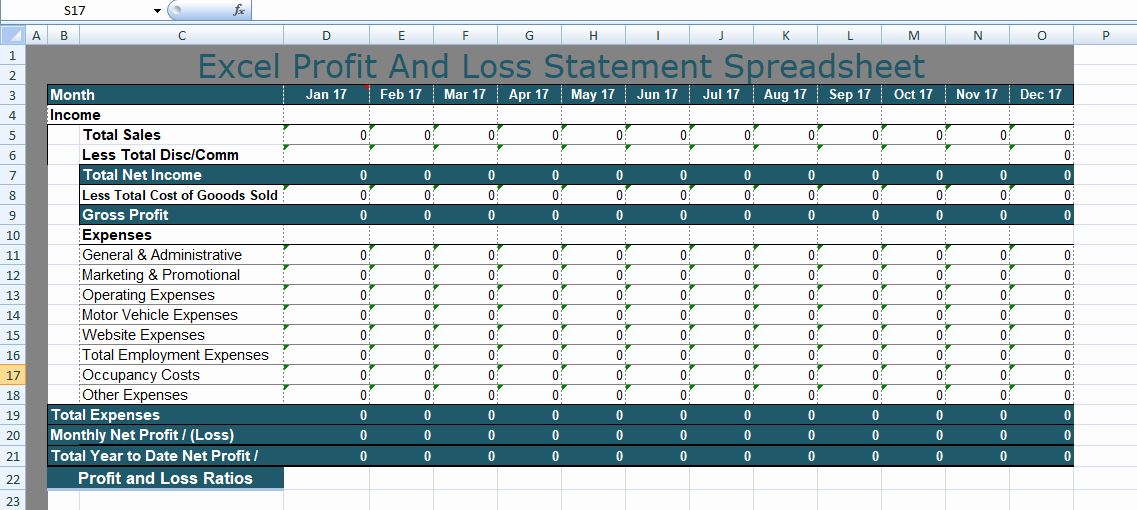 Profit and Loss Template Excel New Free Personal Bud Spreadsheet Templates Excel