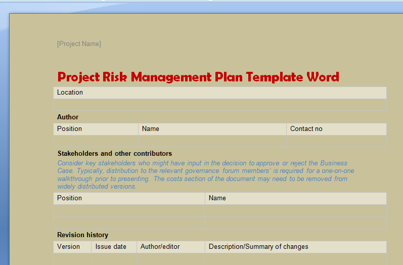 Project Plan Template Word Awesome Business Portfolio Templates In Word