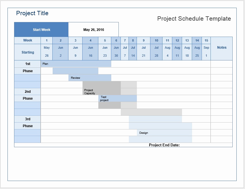Project Plan Template Word Beautiful Project Schedule – Word Template – Microsoft Word Templates