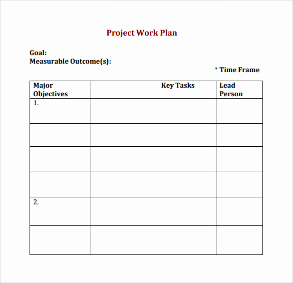 Project Plan Template Word Beautiful Work Plan Template 20 Download Free Documents for Word