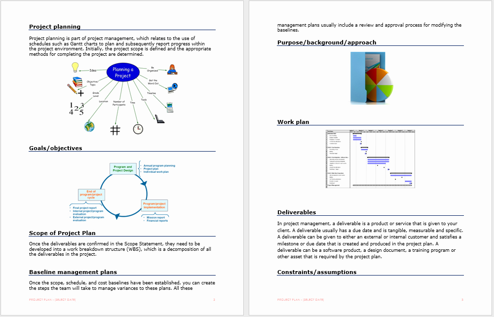 Project Plan Template Word Unique Project Plan Template – Microsoft Word Templates