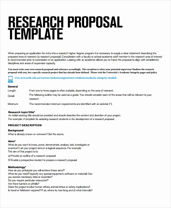 Project Proposal Sample for Students Awesome Sample Research Project Template 7 Free Documents