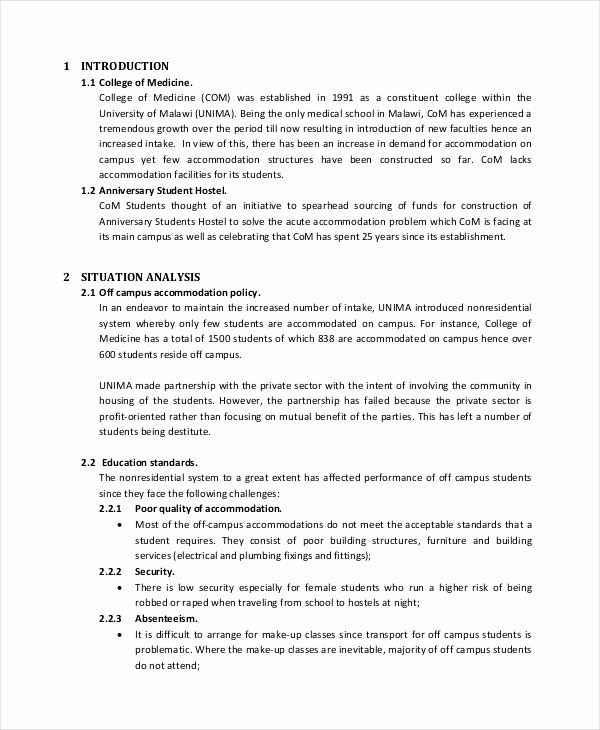 Project Proposal Sample for Students Elegant 44 Project Proposal Examples Pdf Word Pages