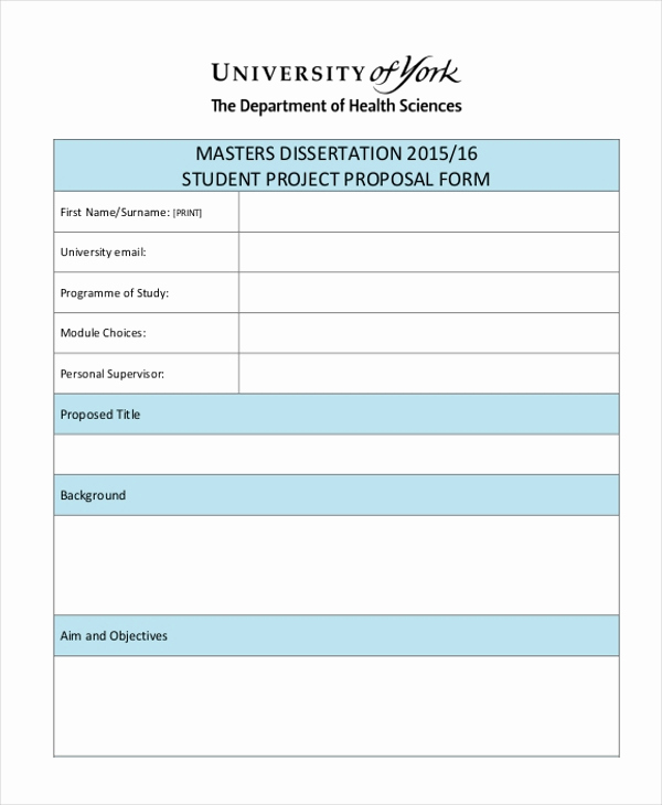 Project Proposal Sample for Students Luxury Sample Project Proposal form 10 Free Documents In Doc Pdf