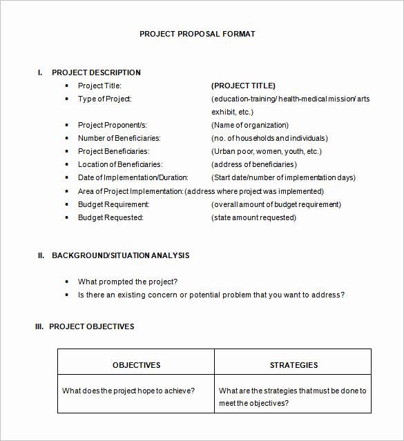 Project Proposal Sample for Students Unique 47 Project Proposal Templates Doc Pdf