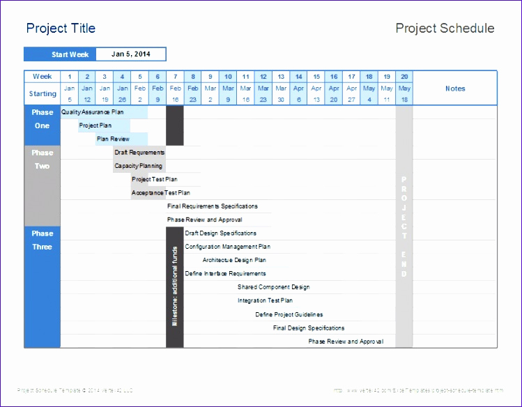 Project Schedule Template Excel Best Of 6 Free Excel Gantt Chart Template Download