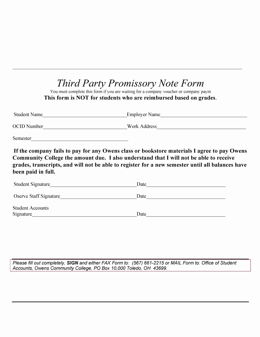 Promissory Note Template Free Beautiful 45 Free Promissory Note Templates & forms [word & Pdf]