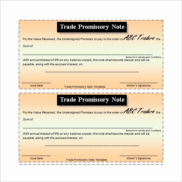 Promissory Note Templates Word Elegant Promissory Note 26 Download Free Documents In Pdf Word