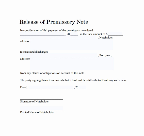Promissory Note Templates Word Unique Promissory Note 22 Download Free Documents In Pdf Word