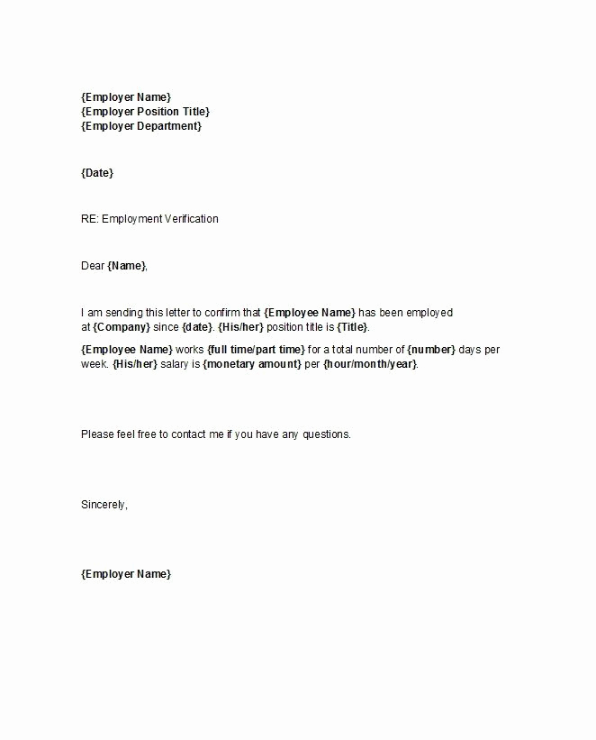 Proof Of Employment Letter Sample Best Of Proof Of Employment Letter 25 Ebt