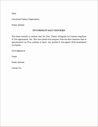 Proof Of Employment Letter Sample Luxury Proof Employment Letter