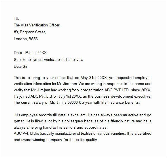 Proof Of Employment Letter Template Beautiful Sample Proof Of Employment Letter 9 Download Free