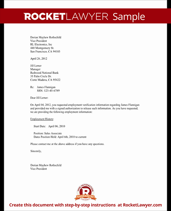Proof Of Employment Letter Template Unique Employment Verification Letter Template Verify Job Letter