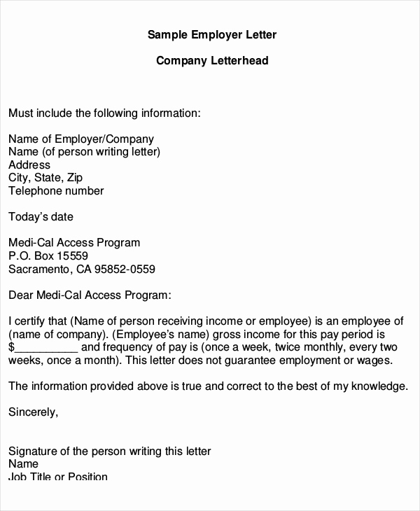 Proof Of Income Letter Sample Elegant 16 Proof Of In E Letters Pdf Doc