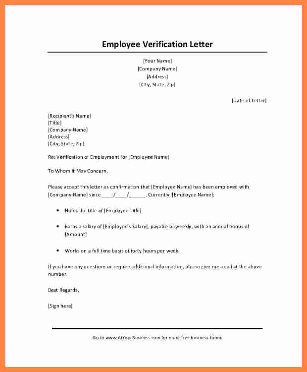 Proof Of Income Letter Sample Fresh 10 Employer Salary Verification Letter