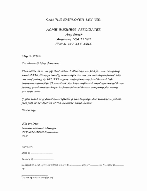 Proof Of Income Letter Sample Unique Household Position Letter Template