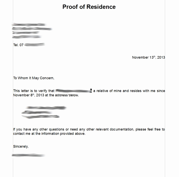 Proof Of Residency Letter Template Beautiful Notarized Letter Residency