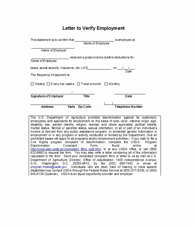 Proof Of Work Letter Fresh 40 Proof Of Employment Letters Verification forms & Samples