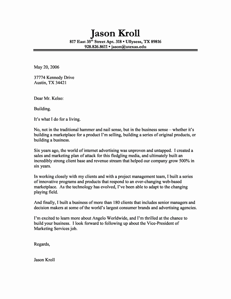 Proper format for A Letter Best Of Cover Letter Standard format