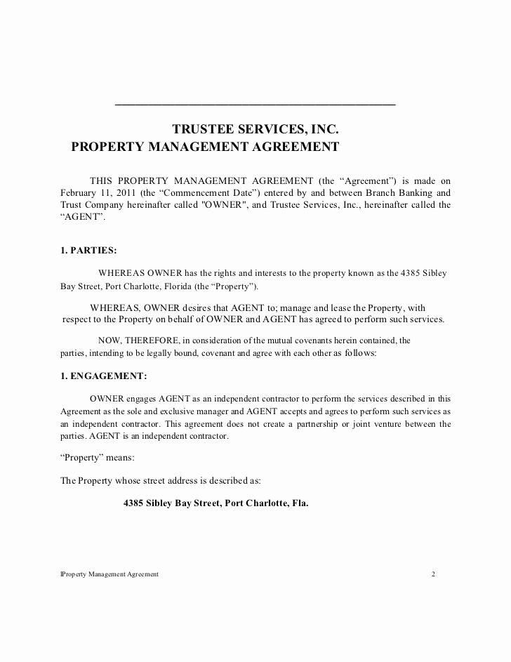 Property Management Agreement Pdf Fresh Tsi Residential Propertyl Management Agreement