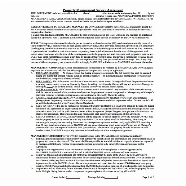 Property Management Agreement Pdf Inspirational 6 Property Management Agreement Templates Pdf