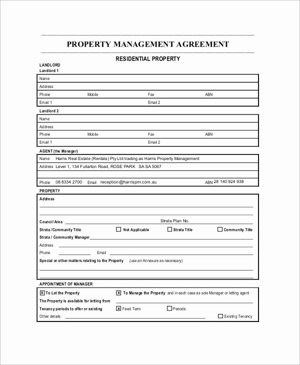 Property Management Agreement Pdf Unique Sample Property Management Agreement 9 Documents In Pdf