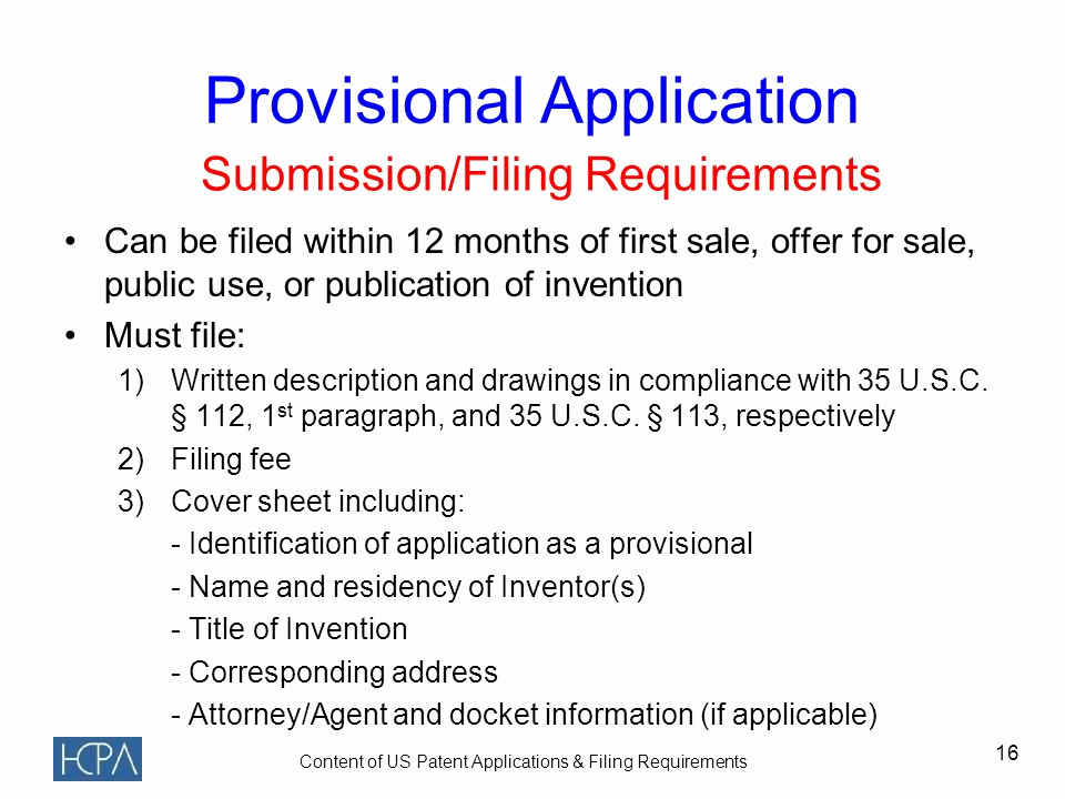 Provisional Patent Application form Inspirational Contents Of Us Patent Applications & Filing Requirements