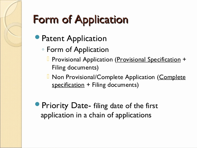 Provisional Patent Application form Unique Basics Of Specification Drafting