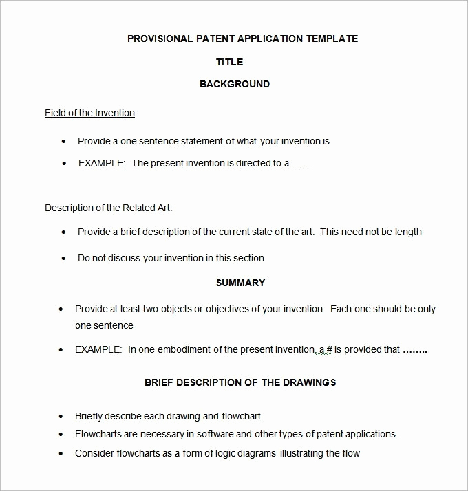 Provisional Patent Application Template New Provisional Patent Template