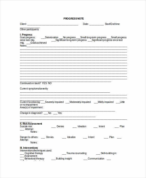 Psychotherapy Progress Notes Template Awesome Sample therapy Note Template 5 Free Documents Download